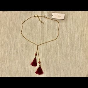 Kate Spade Swing Time Feather Tassel Necklace